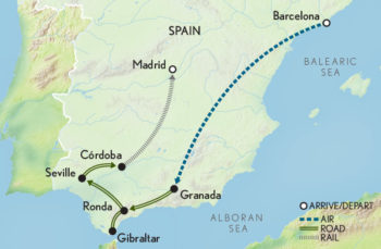 Map Of Tour Of Spain 2017.2017 Connections Group Spain A Family Journey Map Platinum Travel